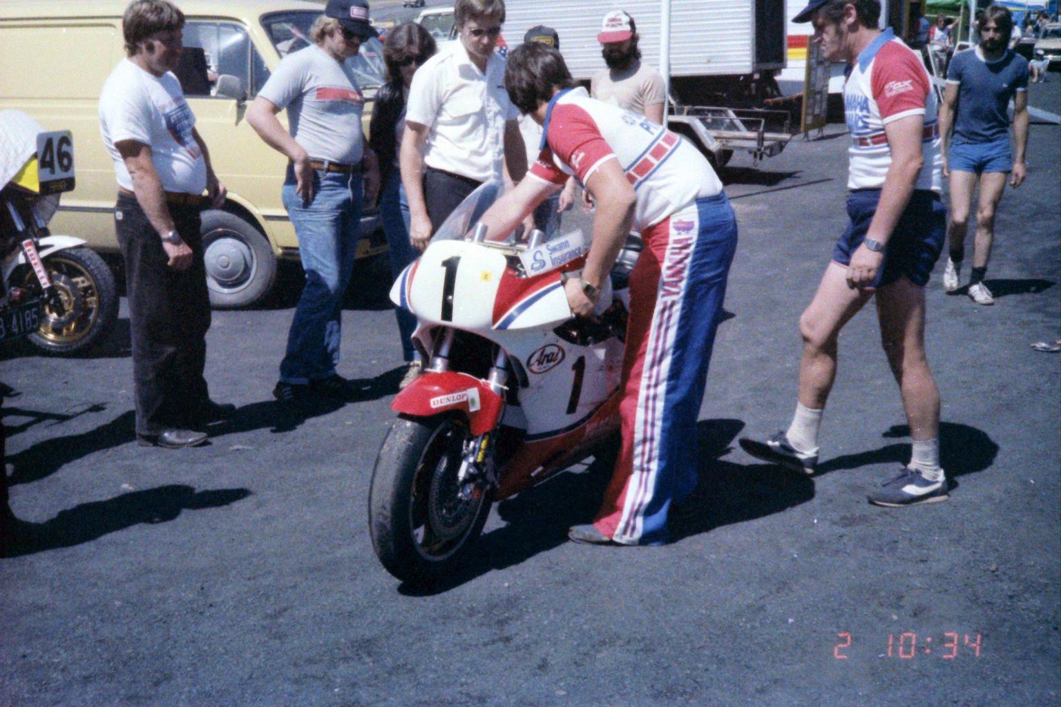 1984_Australia-12-2_マイケル・ドーソンのTZ750
